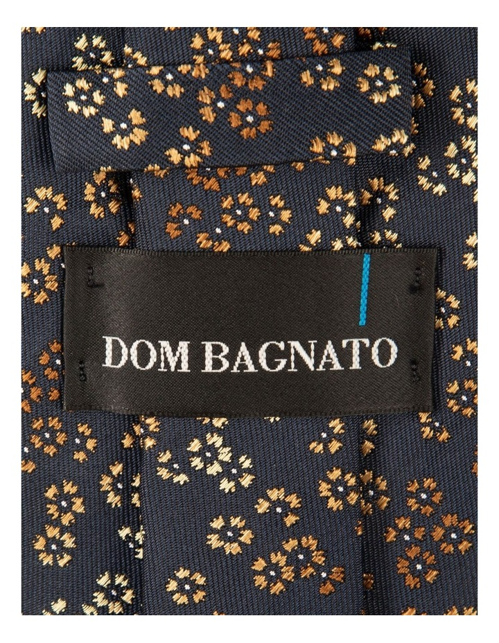 Taupe Dianthus Silk Tie image 2