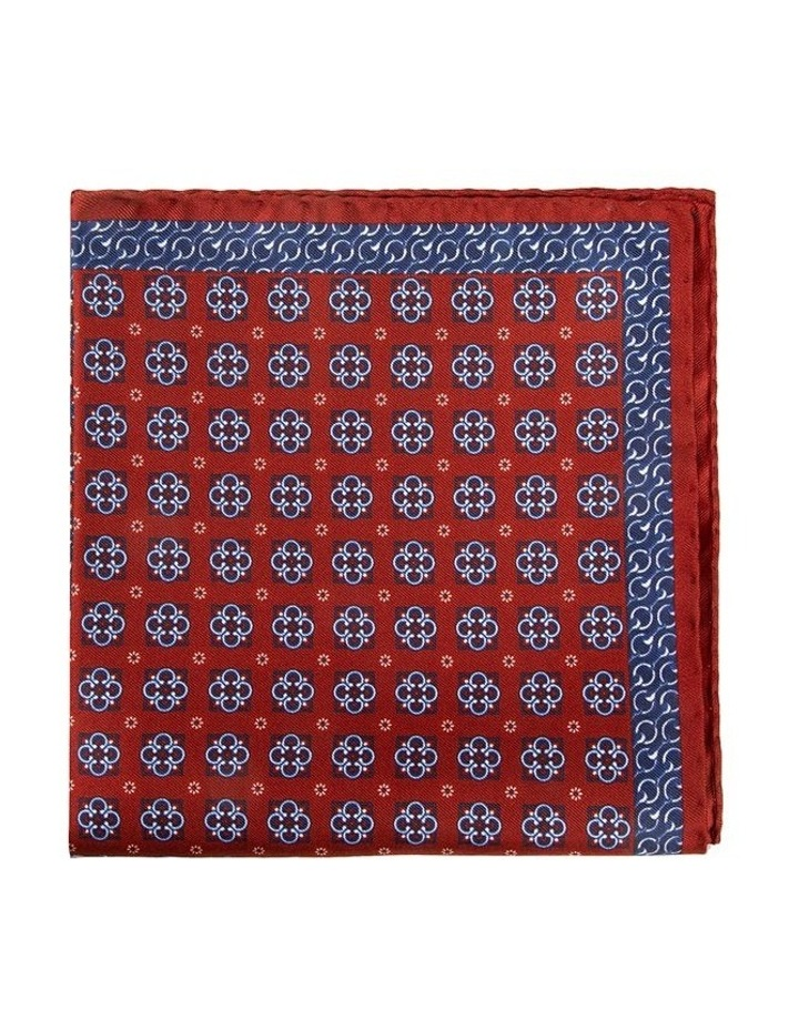 Red Falena Paisley Pocket Square image 1