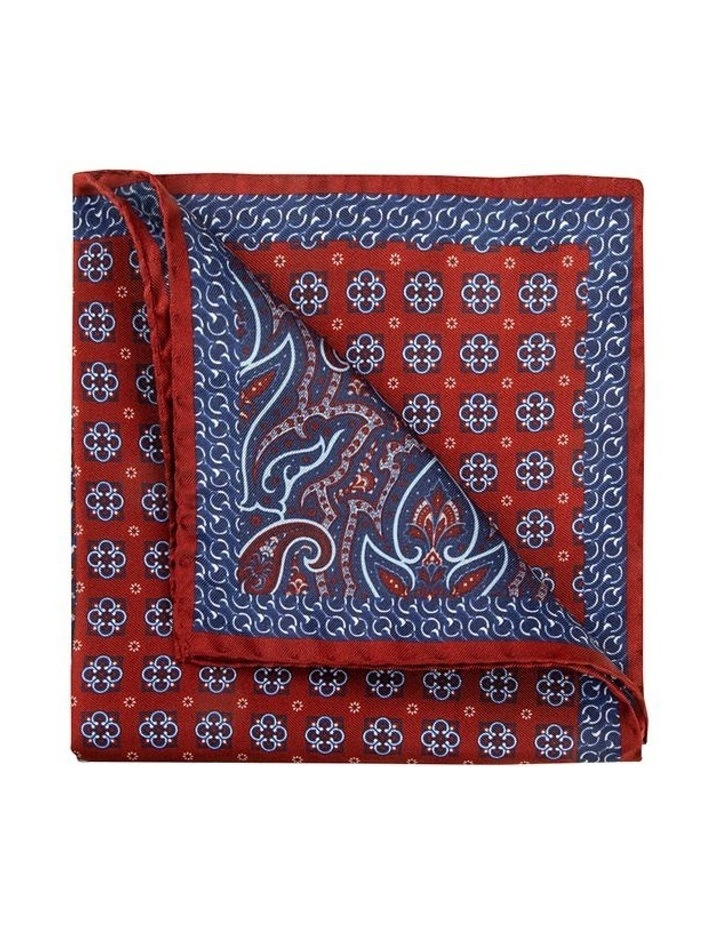 Red Falena Paisley Pocket Square image 2