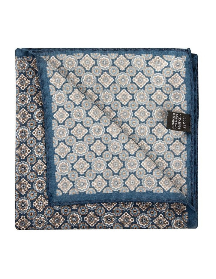 Taupe Foulard Pocket Square image 2