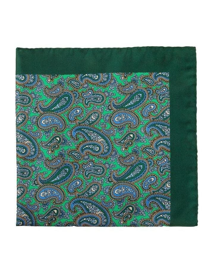 Emerald Mezzo Paisley Pocket Square image 1