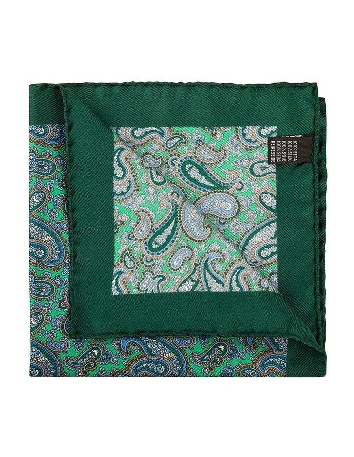 Emerald Mezzo Paisley Pocket Square image 2