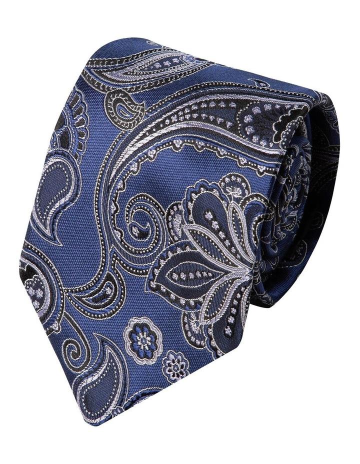 Ricamo Paisley Silk Tie-Blue image 1