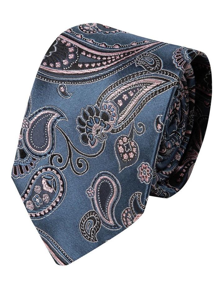 Ricamo Paisley Silk Tie-Light Pink image 1