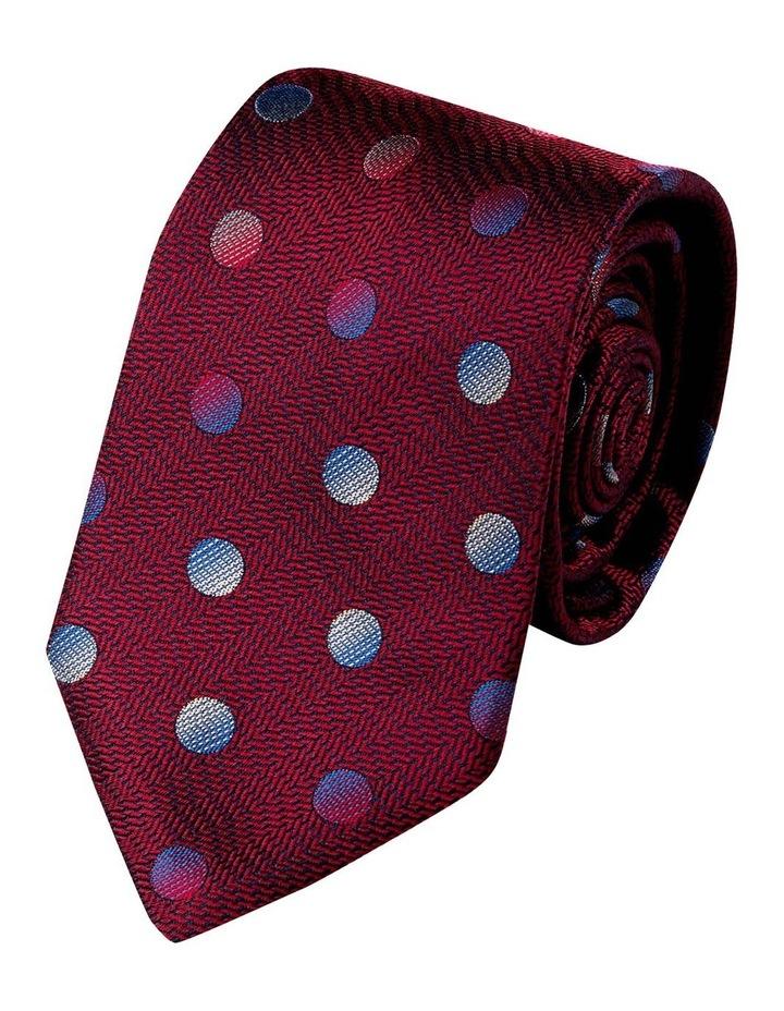 Pianeta Spot Silk Tie-Wine image 1