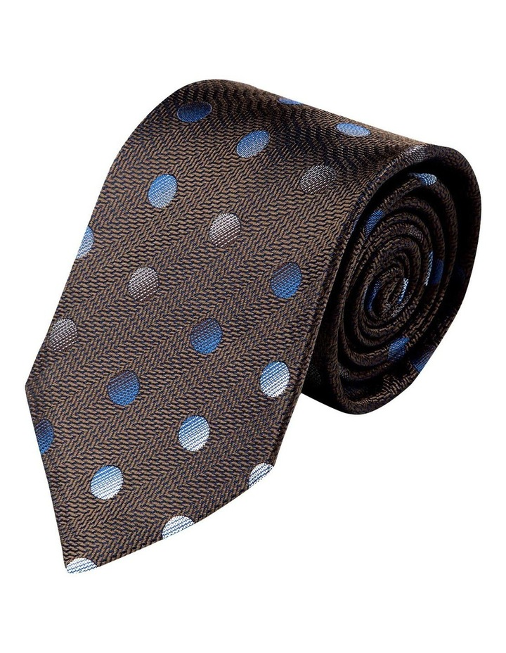 Pianeta Spot Silk Tie-Chocolate image 1
