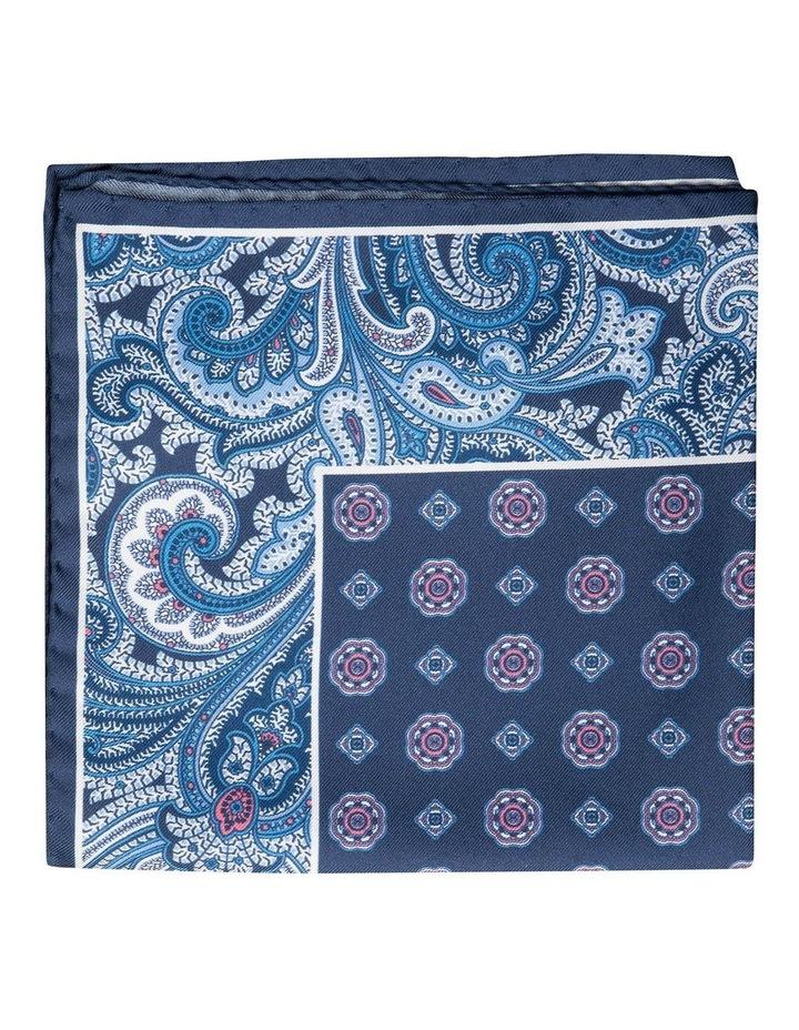 Paisley Edged Silk Pochette-Navy image 1