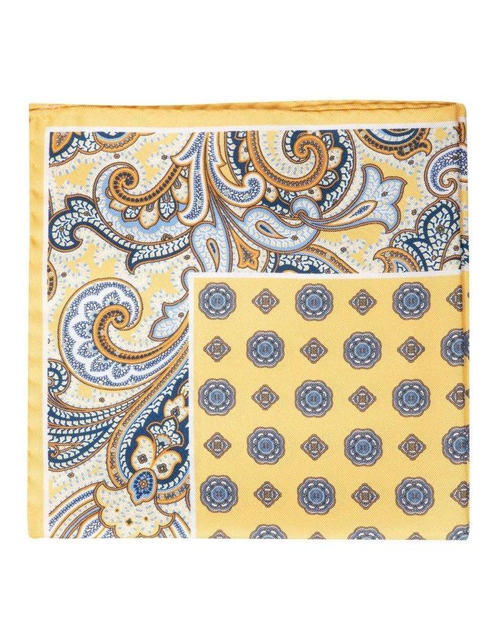 Paisley Edged Silk Pochette-Yellow image 1