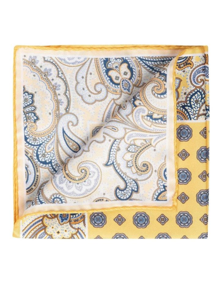 Paisley Edged Silk Pochette-Yellow image 2