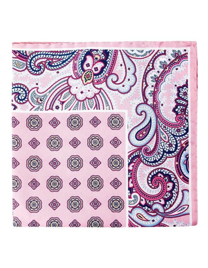 Paisley Edged Silk Pochette-Pink image 1