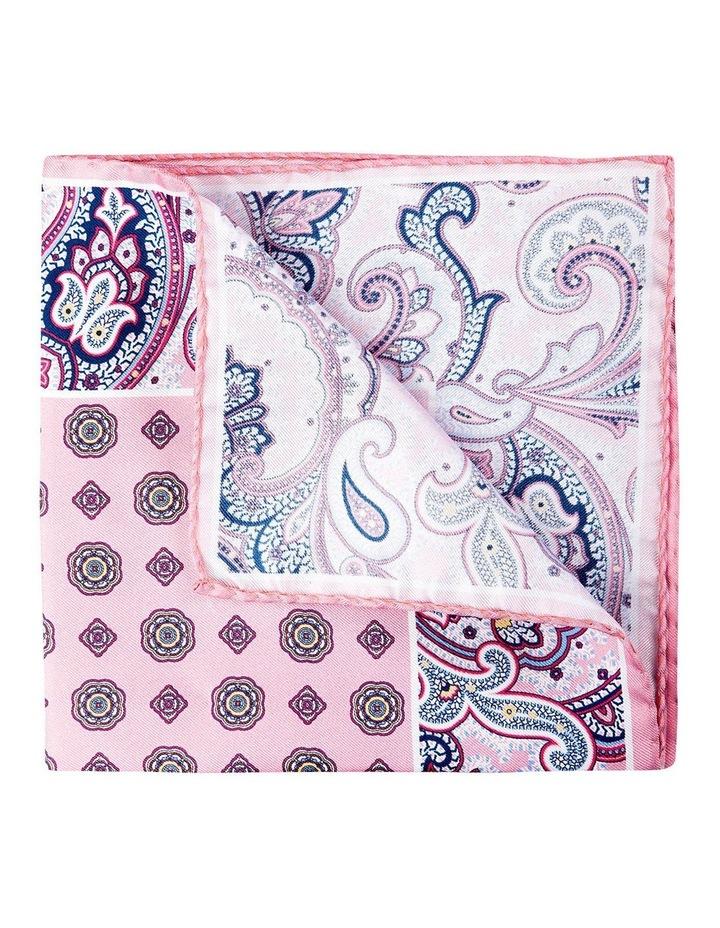 Paisley Edged Silk Pochette-Pink image 2