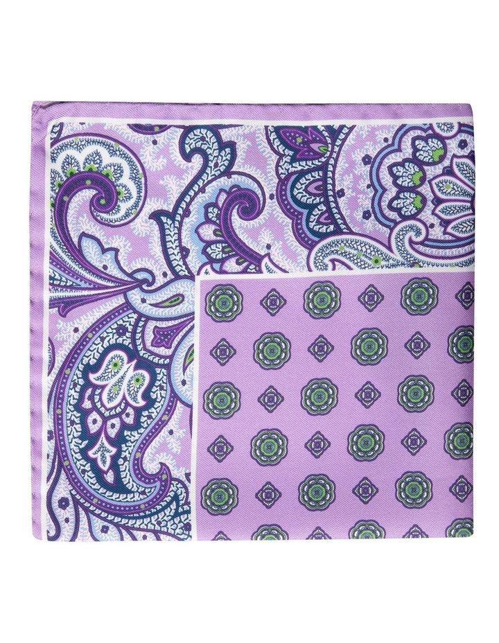 Paisley Edged Silk Pochette-Purple image 1