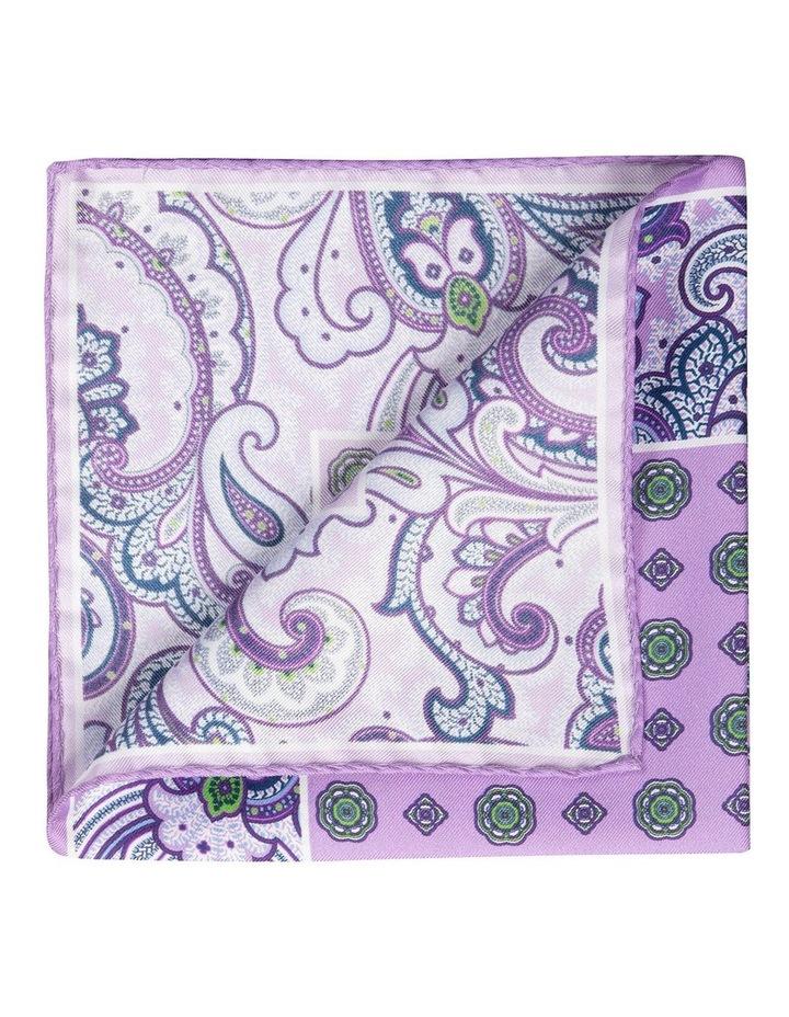 Paisley Edged Silk Pochette-Purple image 2