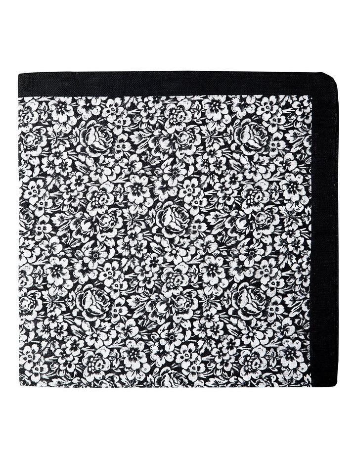 Forget Me Not Linen Pochette-Black image 1