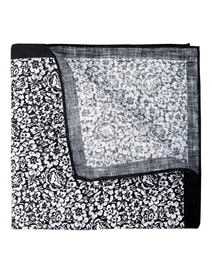 Forget Me Not Linen Pochette-Black image 2