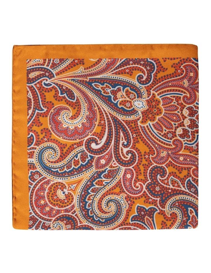 Arancia Paisley Silk Pochette-Orange image 1