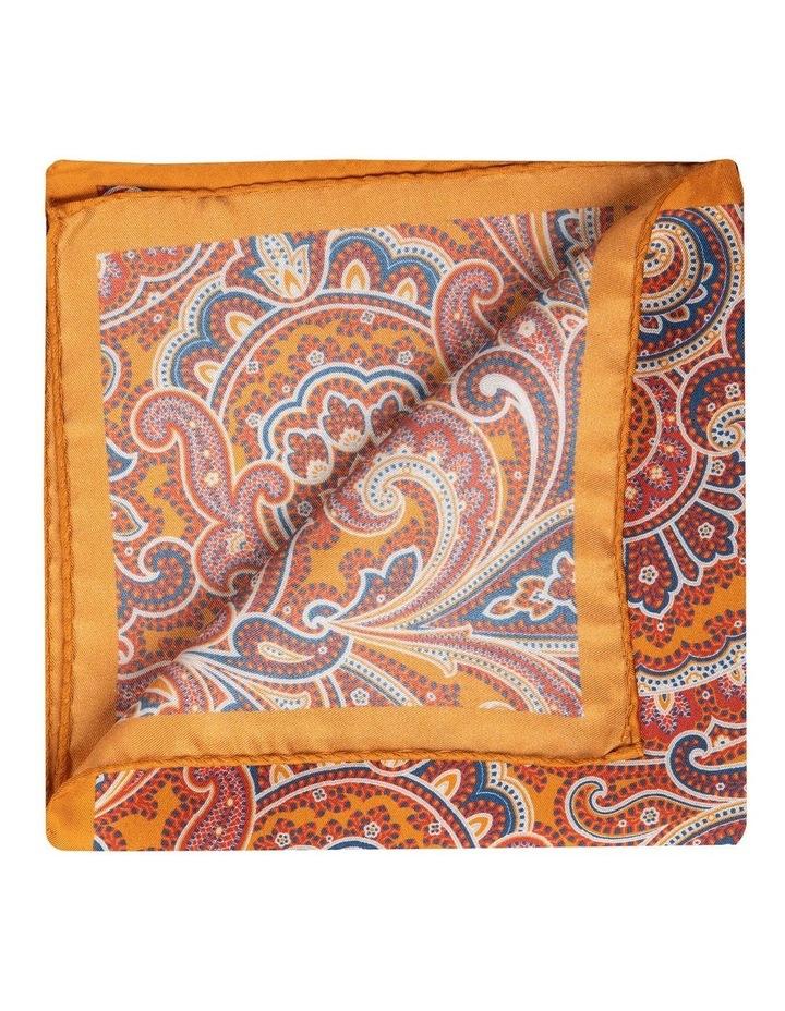 Arancia Paisley Silk Pochette-Orange image 2