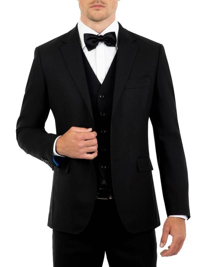 Tailored Fit Stefano Black Wool Jacket FCK410 image 1
