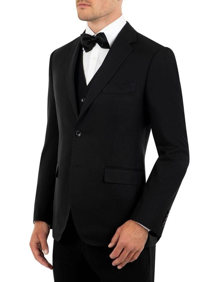 Tailored Fit Stefano Black Wool Jacket FCK410 image 2