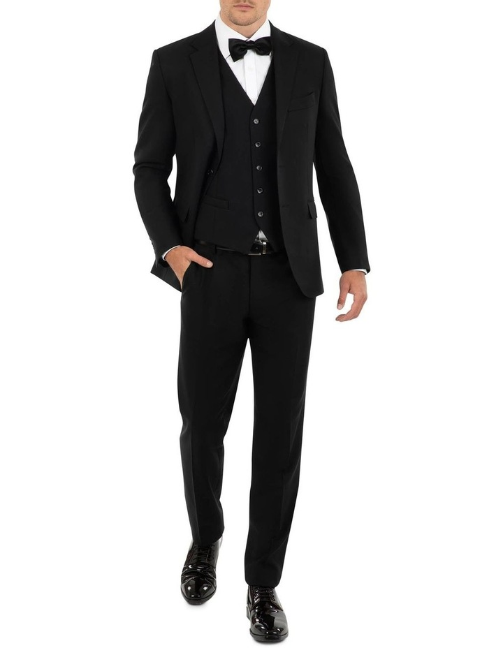 Tailored Fit Stefano Black Wool Jacket FCK410 image 5