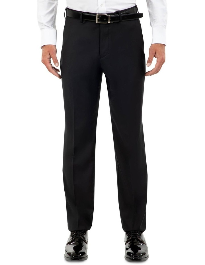 Tailored Fit Fabio Black Wool Trouser FCK410 image 1