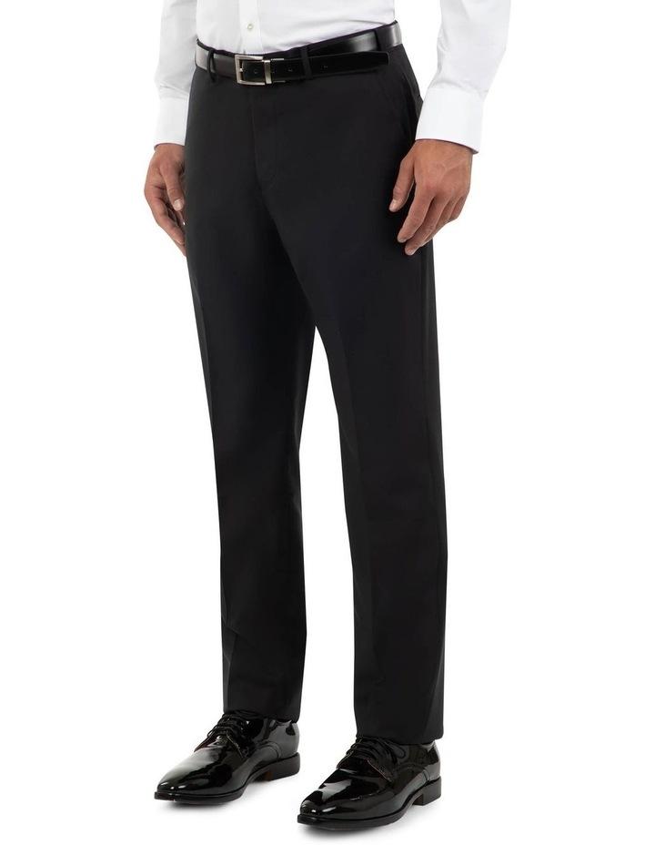 Tailored Fit Fabio Black Wool Trouser FCK410 image 2