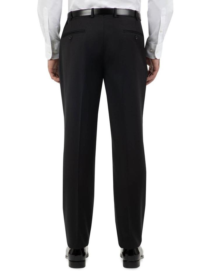 Tailored Fit Fabio Black Wool Trouser FCK410 image 3