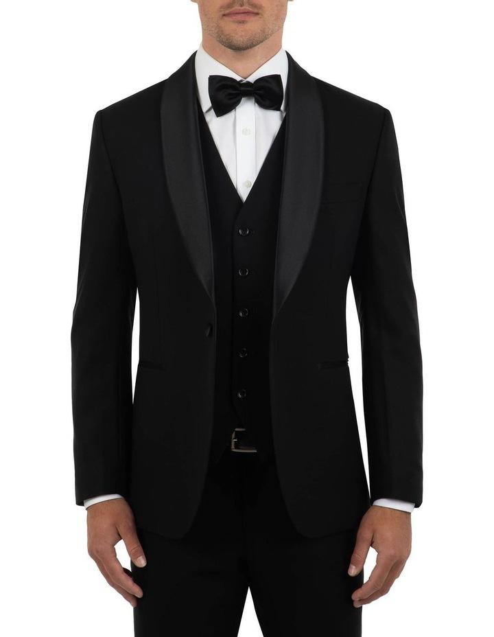 Tailored Fit Giovanni Black Dinner Jacket FCK410 image 1