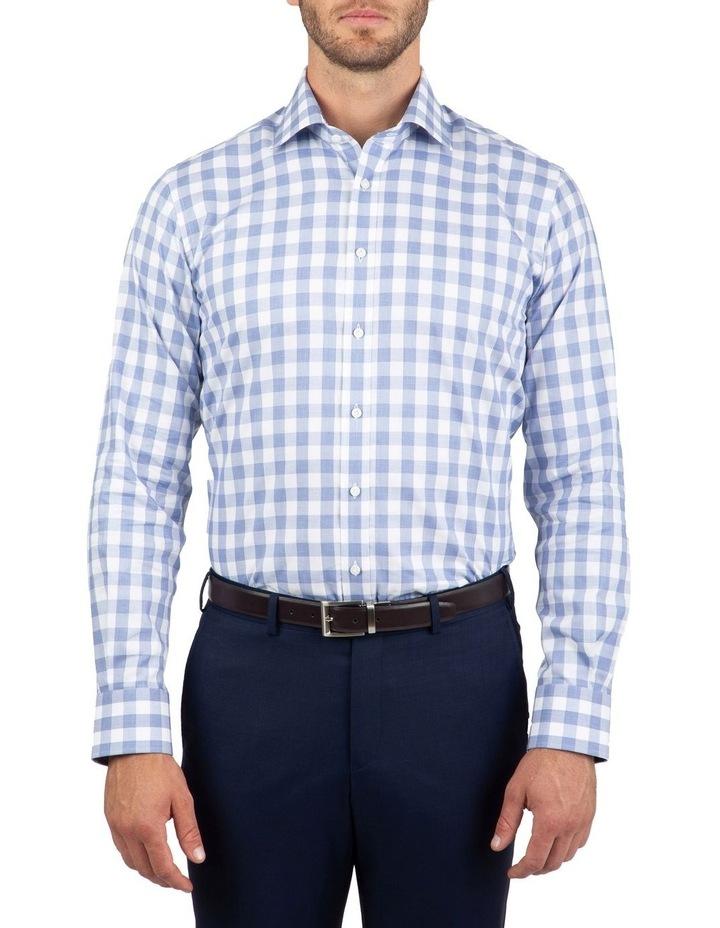 Tailored Fit Blue Giorgio Check Shirt image 1