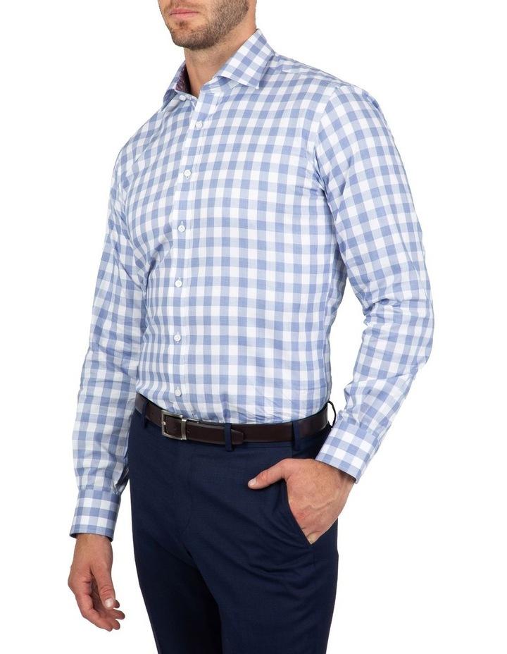 Tailored Fit Blue Giorgio Check Shirt image 2