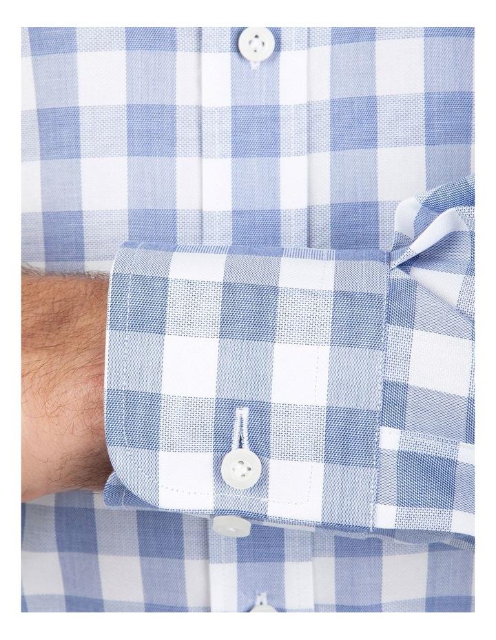 Tailored Fit Blue Giorgio Check Shirt image 4