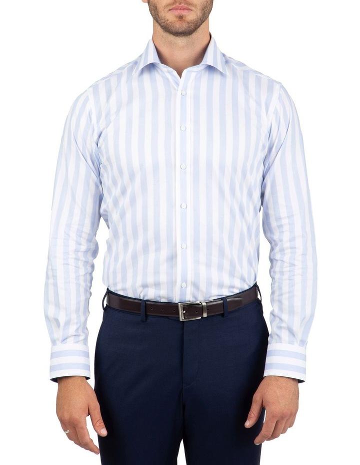 Tailored Fit Giorgio Light Blue Stripe Shirt image 1