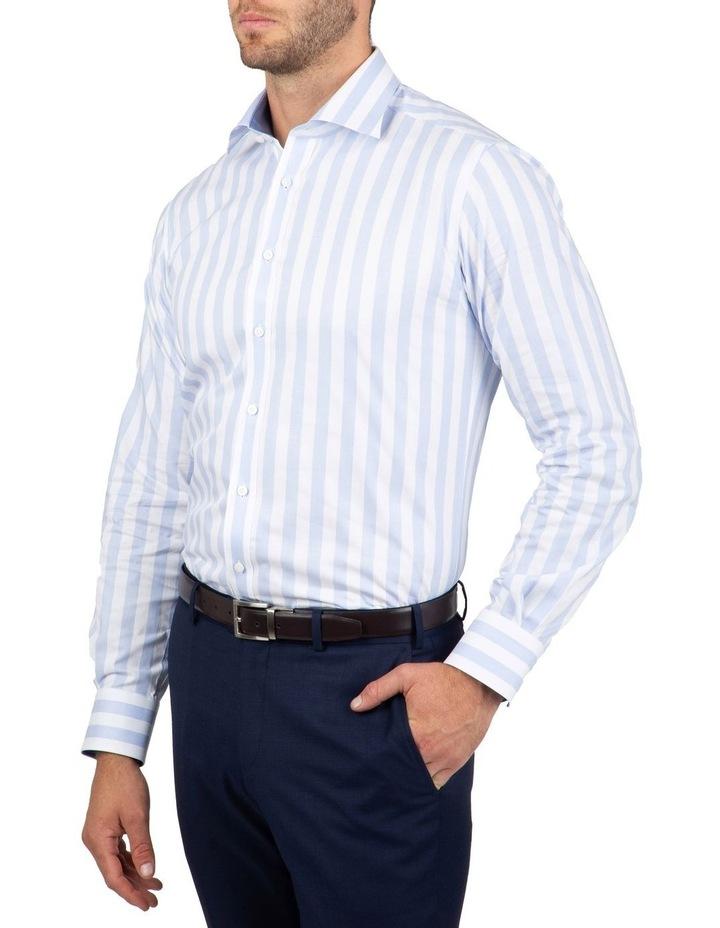 Tailored Fit Giorgio Light Blue Stripe Shirt image 2