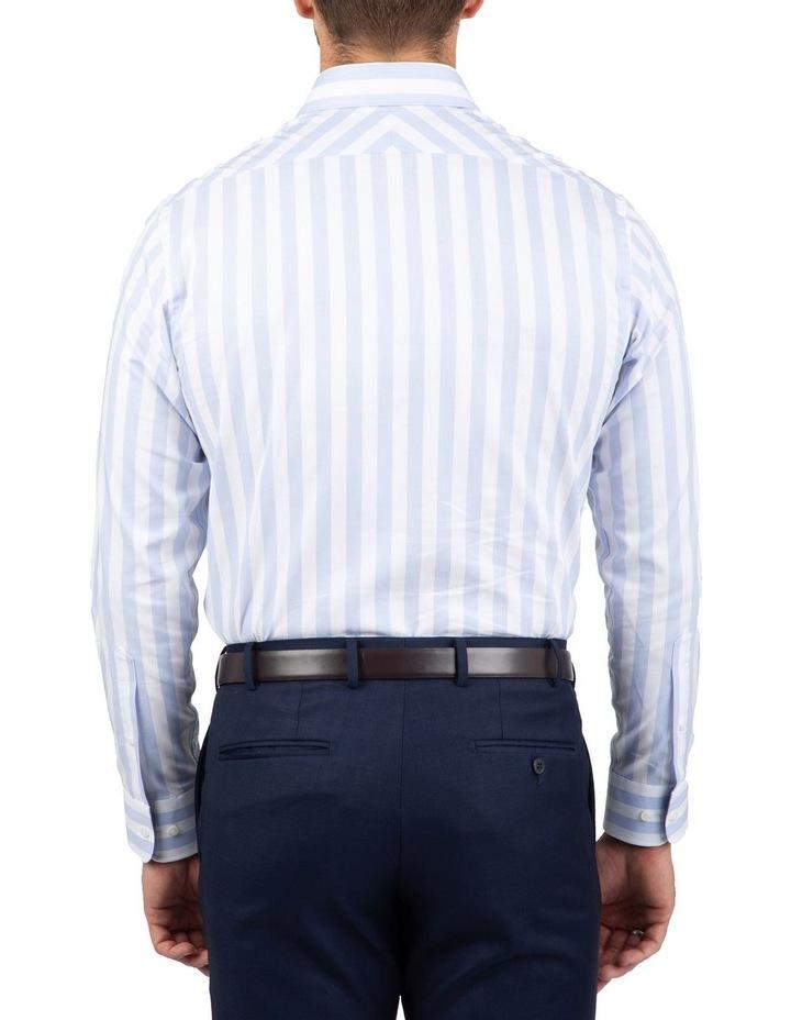 Tailored Fit Giorgio Light Blue Stripe Shirt image 3