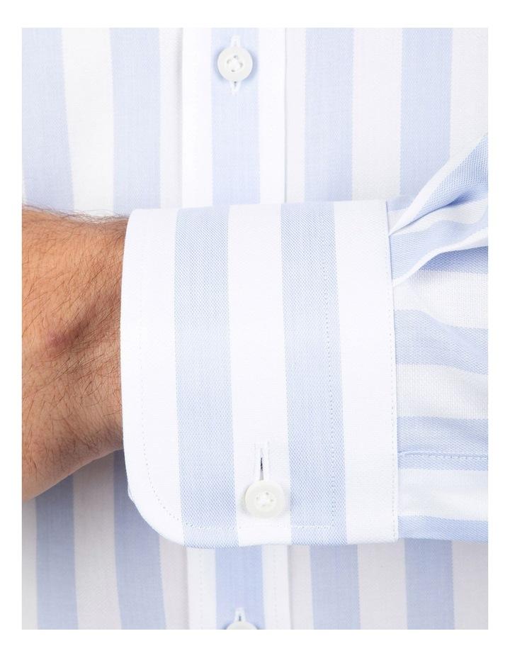 Tailored Fit Giorgio Light Blue Stripe Shirt image 4