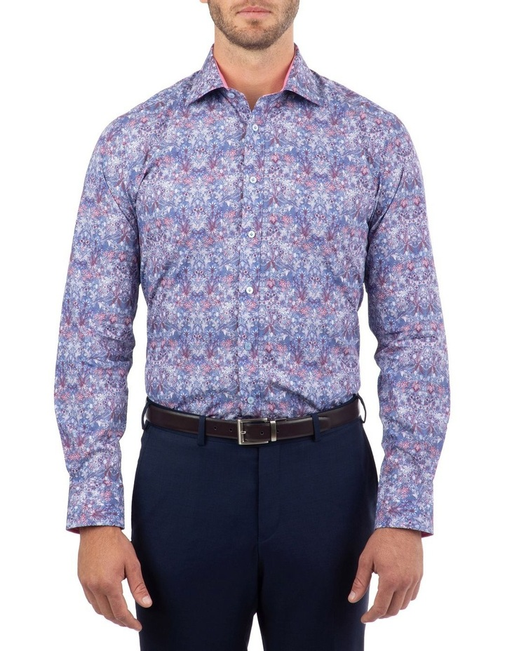 Tailored Fit Blue Giorgio Floral Print Shirt image 1