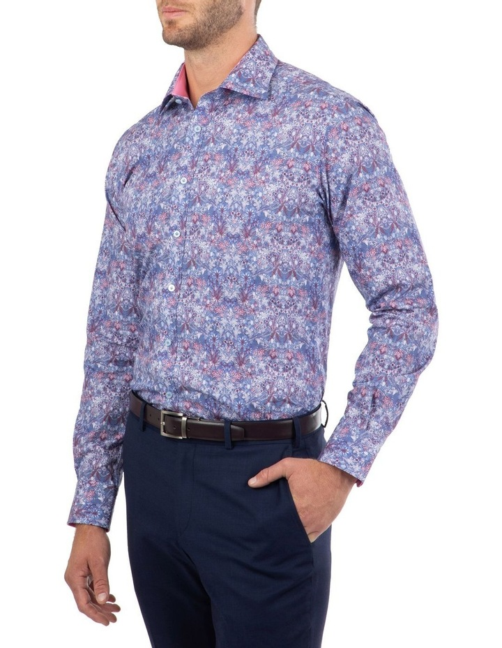 Tailored Fit Blue Giorgio Floral Print Shirt image 2