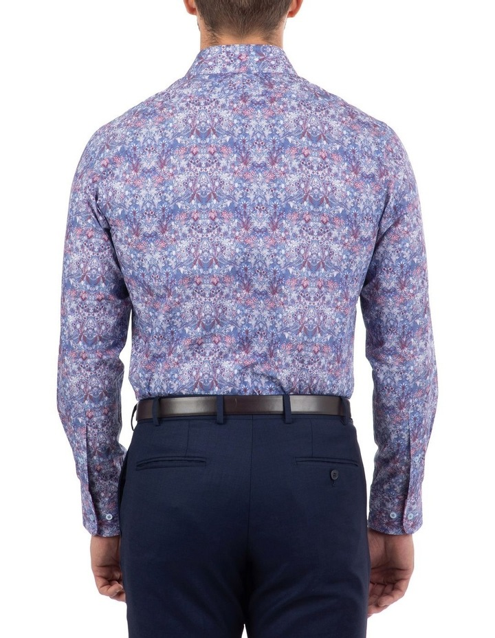 Tailored Fit Blue Giorgio Floral Print Shirt image 3