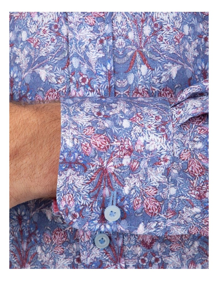 Tailored Fit Blue Giorgio Floral Print Shirt image 4