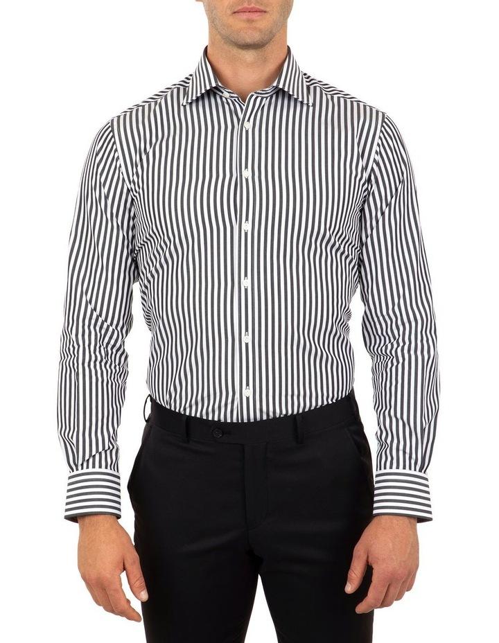 Tailored Fit Giorgio Black Banker Stripe Shirt image 1