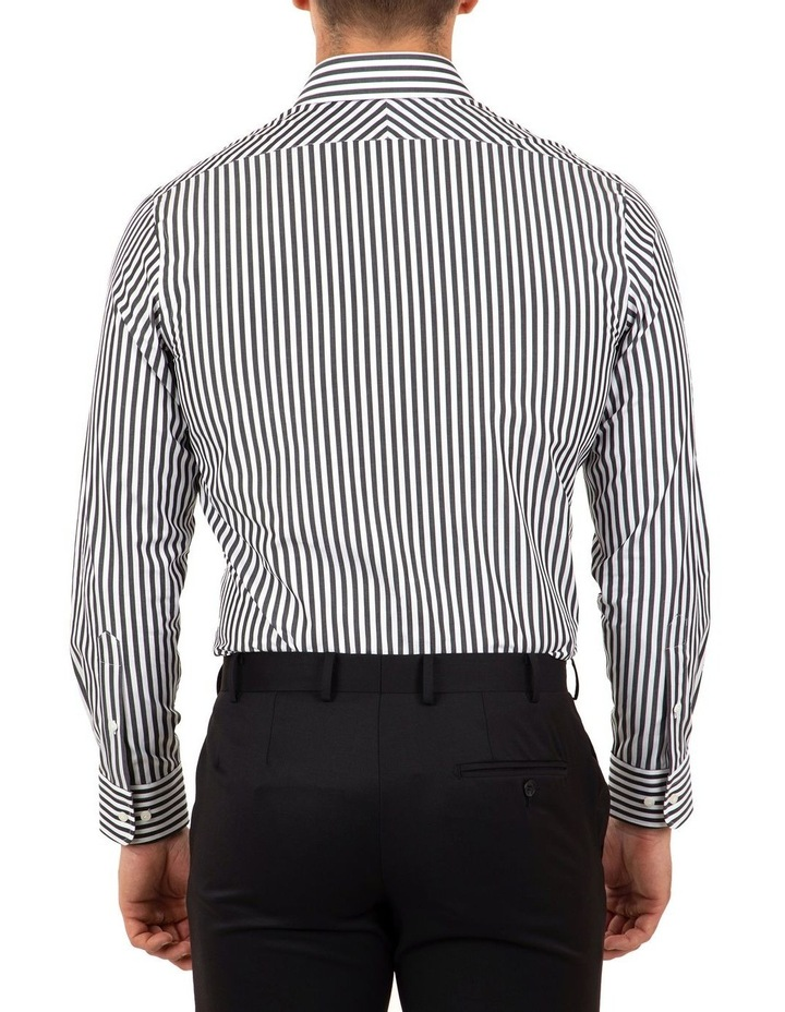 Tailored Fit Giorgio Black Banker Stripe Shirt image 2