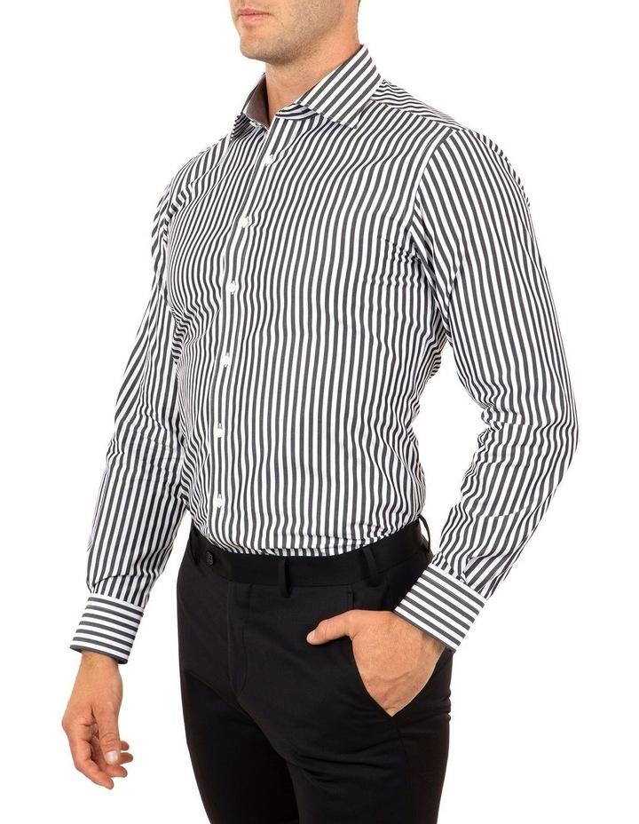 Tailored Fit Giorgio Black Banker Stripe Shirt image 3