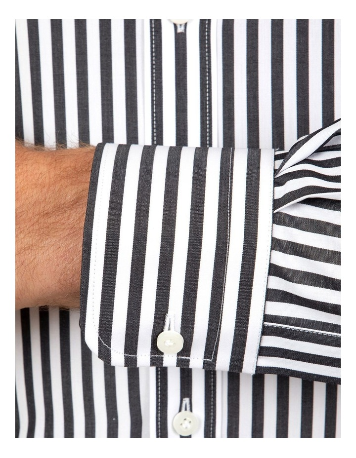 Tailored Fit Giorgio Black Banker Stripe Shirt image 4