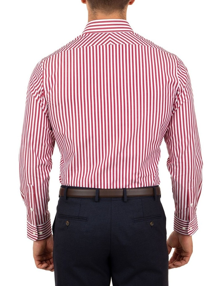 Tailored Fit Giorgio Red Banker Stripe Shirt image 2
