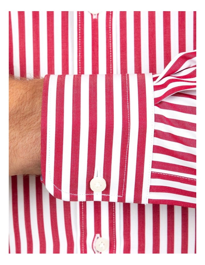 Tailored Fit Giorgio Red Banker Stripe Shirt image 4