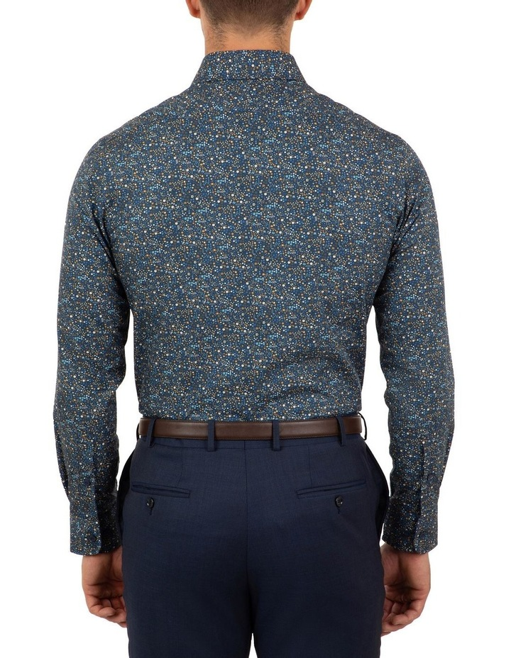 Tailored Fit Navy Giorgio Floral Print Shirt image 2