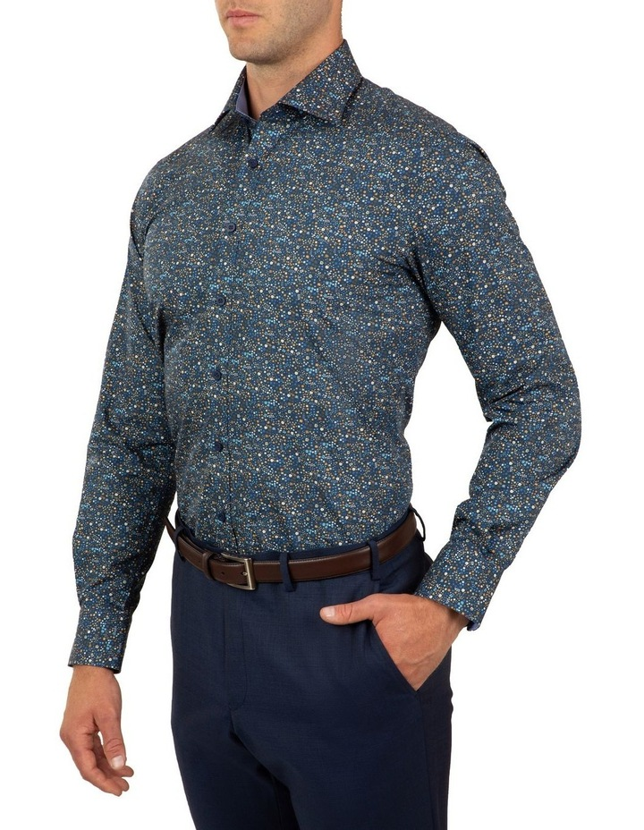 Tailored Fit Navy Giorgio Floral Print Shirt image 4