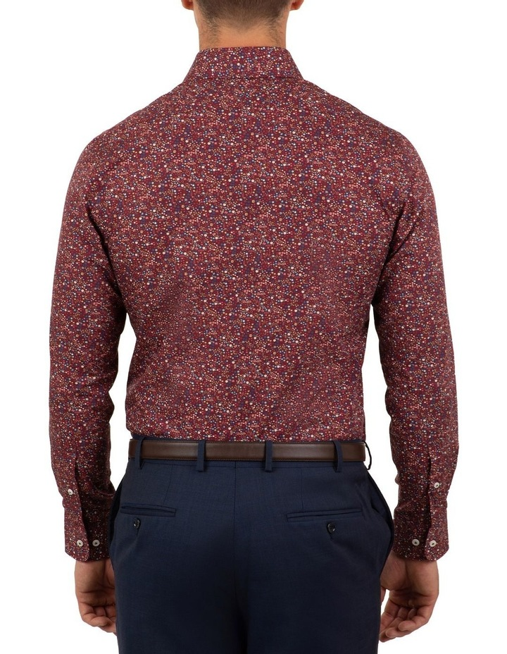 Tailored Fit Wine Giorgio Floral Print Shirt image 2