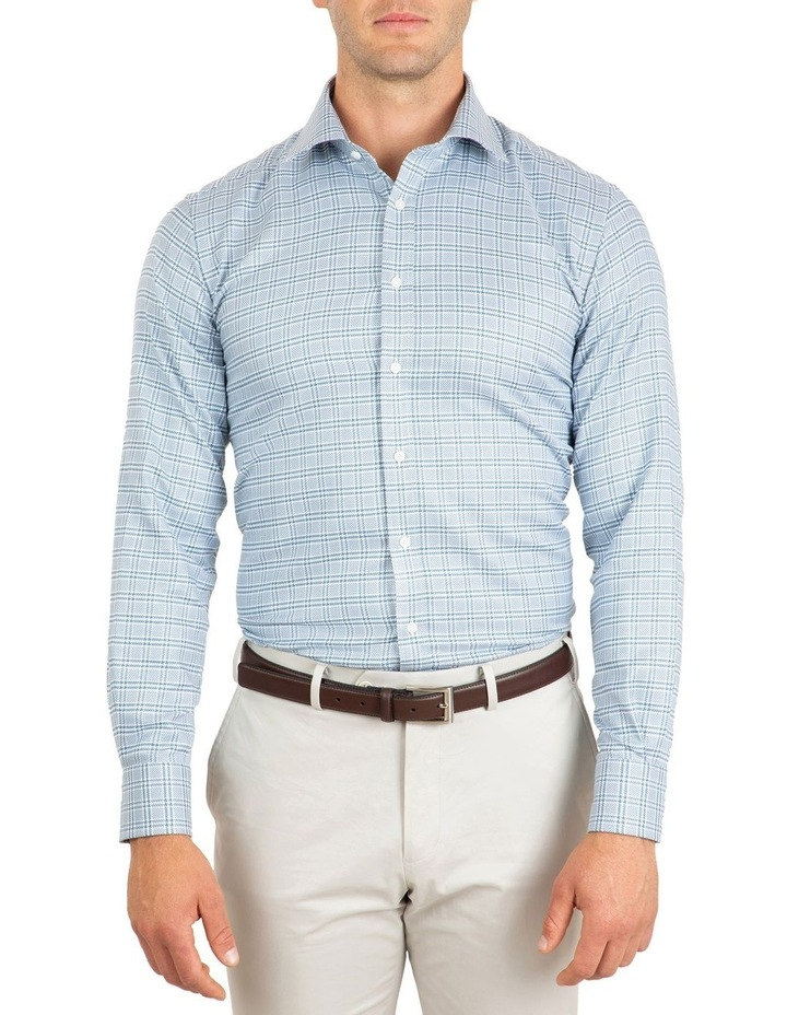 Tailored Fit Teal Giorgio Check Shirt image 1