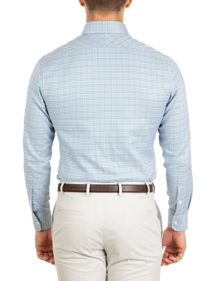 Tailored Fit Teal Giorgio Check Shirt image 2